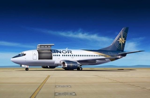 Nolinor Aviation ajoute un Boeing 737-300 à son parc aérien, une première dans l'industrie au Québec. Le transporteur offrira des destinations plus éloignées et sans escales avec des charges plus importantes à travers le Canada, les États-Unis et ailleurs dans le monde. (Groupe CNW/Nolinor Aviation)