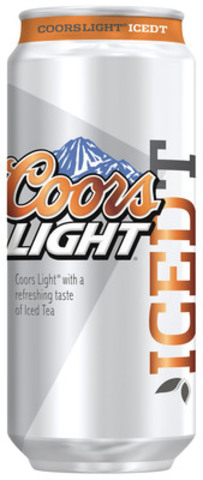 Now available: Coors Light Iced T, a light beer with a blend of natural tea and lemon flavours (CNW Group/Molson Coors Canada)