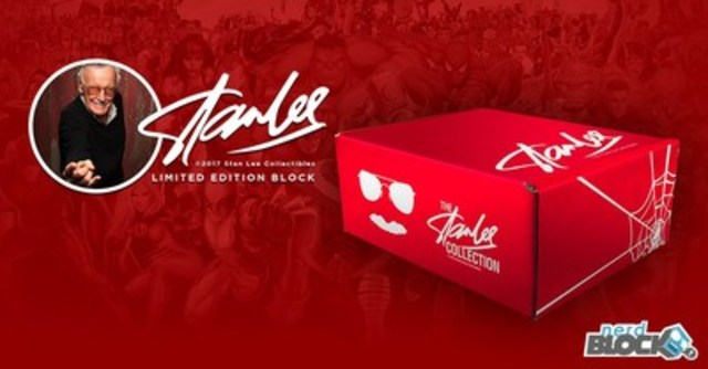 Nerd Block partners with comic book icon with the launch of a limited-edition Stan Lee Block. The Stan Lee Limited Edition Block will include 10 officially-licensed items that are exclusive to Nerd Block subscribers. The Stan Lee Block will be shipped within the first two weeks of January 2017. For more information and to order, please visit https://www.nerdblock.com/stan-lee (CNW Group/Nerd Block)