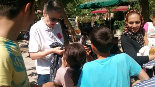 The Salvation Army's refugee response in Greece (CNW Group/The Salvation Army)