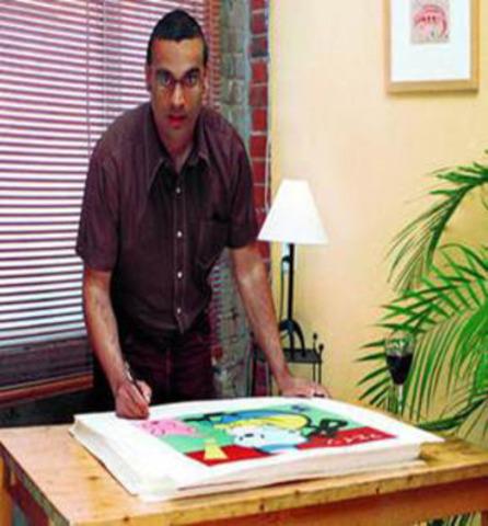 World Pop Illustrator & Artist Gary Taxali (CNW Group/World Vision Canada)