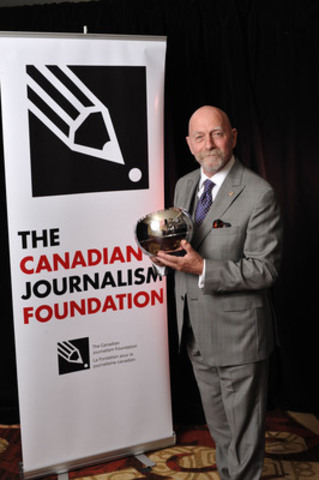 Peter Bregg was the first photojournalist to receive the Lifetime Achievement Award at the 17th Annual CJF Awards. (CNW Group/Canadian Journalism Foundation)