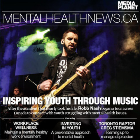 After an accident that nearly took his life, Robb Nash experienced the effects of mental illness first hand. Years later, Robb ripped up his record deal to start the Robb Nash Project where he brings his musical talent to schools across Canada to connect with youth struggling with mental health issues. (CNW Group/Mediaplanet Ltd)