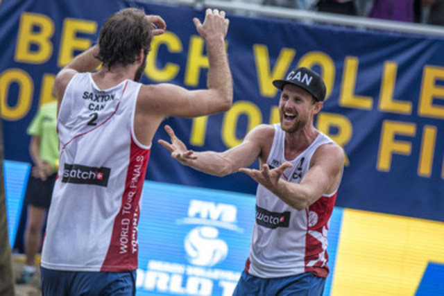 Ben Saxton (CAN) and Chaim Schalk (CAN) (CNW Group/Swatch Beach Volleyball Major Series)