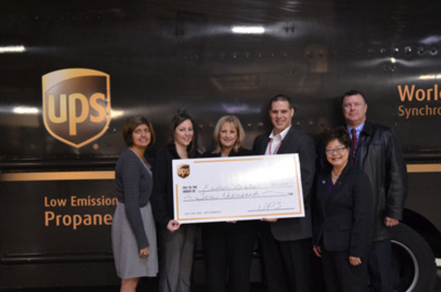 Congratulations to all! The UPS Foundation presented a $10,000 grant to The Easter Seals on October 2nd in Richmond, B.C. This grant will benefit the BC Lions Society for Children with Disabilities camp and ensure it has all the skills and tools needed to keep it running. (CNW Group/UPS Canada Ltd.)