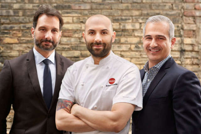Managing directors of King Street Food Company from left to right: Peter Tsebelis, Chef Rob Gentile, and Gus Giazitzidis. Photo Credit: Andy Vanderkaay (CNW Group/King Street Food Company)
