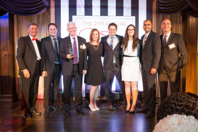 Corby wins Supplier of the Year at 2015 Elsie Awards (CNW Group/Corby Spirit and Wine Communications)