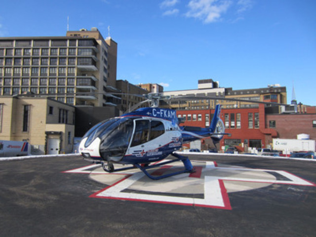 Airmedic is the only company in Québec that offers emergency medical services via helicopter or airplane. (CNW Group/AirMédic Air Ambulance)