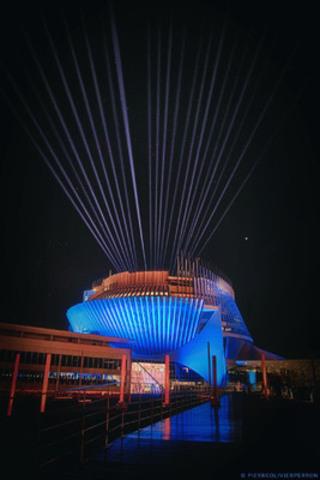 A red-white-and-blue Casino (CNW Group/Casino de Montréal)