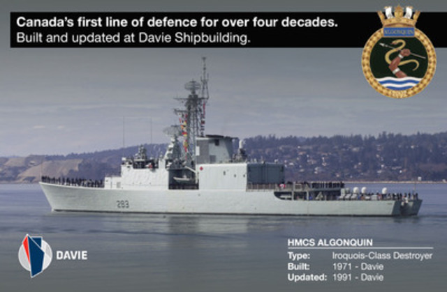 HMCS Algonquin (CNW Group/Davie Shipbuilding)