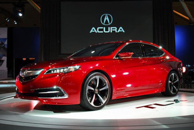 The 2015 Acura TLX prototype makes its Canadian debut at the Canadian International Auto Show (CNW Group/Acura Canada)