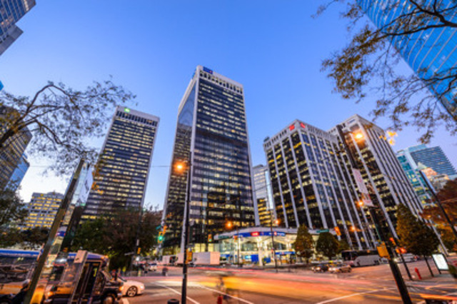 Ivanhoé Cambridge annonce la certification LEED® Or de Bentall Tower IV au Bentall Centre à Vancouver. (Groupe CNW/Ivanhoé Cambridge)