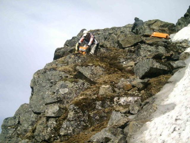 Levée géophysique sur terrain (Groupe CNW/Association de l'exploration minière du Québec (AEMQ))