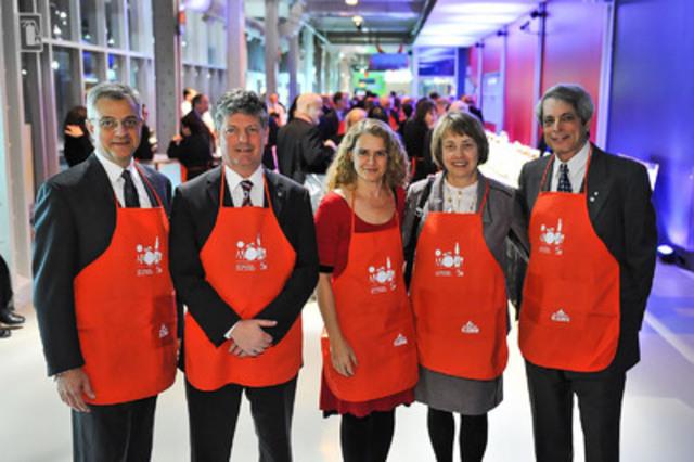 14e édition de la soirée Célébration de la science - Plus de 180 000$ amassés au profit de la Fondation du Centre des sciences de Montréal (Groupe CNW/Centre des sciences de Montréal)