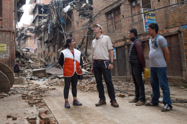Nepal has declared a state of national emergency and World Vision's earthquake response is targeting families in the worst affected areas of Nepal. The agency's priority is to address the immediate needs of children.  (CNW Group/World Vision Canada)