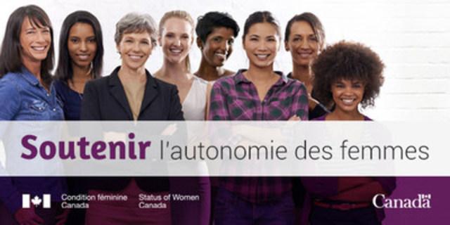 Soutenir l'autonomie des femmes. (Groupe CNW/Condition féminine Canada)