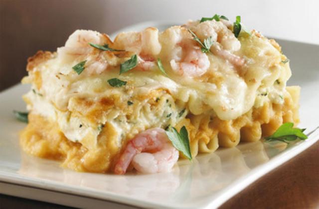 Squash, ricotta and shrimp lasagna (CNW Group/COMMENSAL)