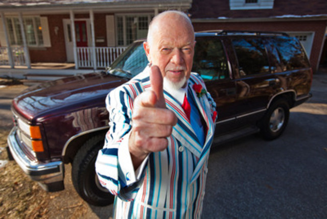 Don Cherry donates vehicle to Kidney Car program in support of organ donation (CNW Group/Kidney Foundation of Canada)