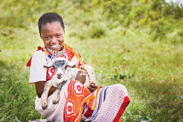 Giving a goat can mean the chance for a family to earn a sustainable income by selling milk and offspring. (CNW Group/World Vision Canada)