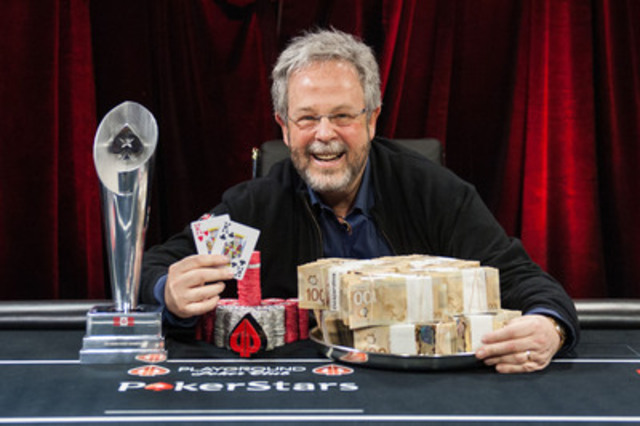 Robert Notkin is the PokerStars Canada Cup Main Event winner. Notkin won his seat to play in the event through a $30 online satellite tournament. He then out-lasted 578 other players over five-days of poker to claim the championship title and $366,660 first place prize money. (CNW Group/PokerStars.net)