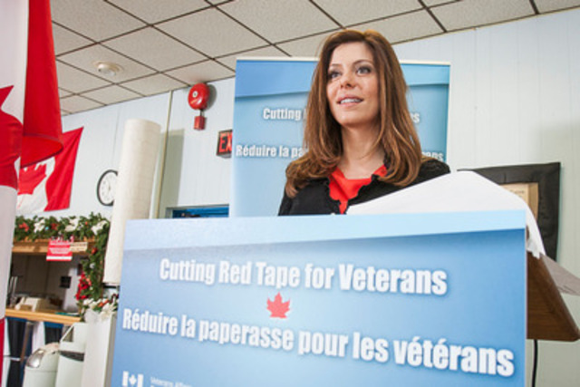 Speaking at an event today in Mississauga, Eve Adams, Parliamentary Secretary to the Minister of Veterans Affairs, announced that improvements to the Veterans Independence Program will come into force on January 1, 2013. (CNW Group/Veterans Affairs Canada)