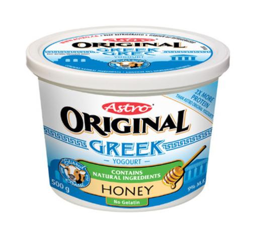Astro Original Greek Yogourt - Honey (CNW Group/Parmalat Canada)