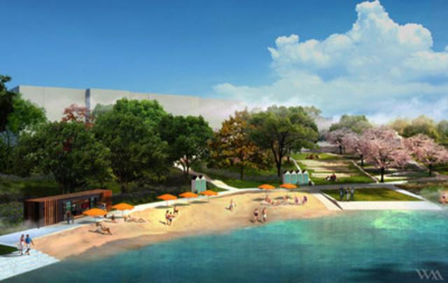 Projet d'aménagement de la plage de Verdun. (Groupe CNW/Ville de Montréal - Arrondissement de Verdun)
