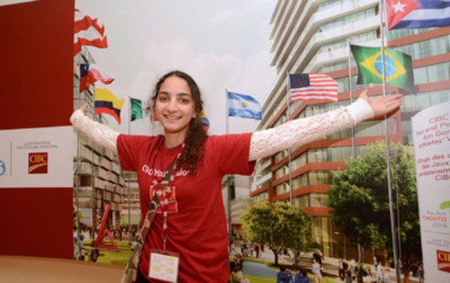 London's Melan Mustafa celebrates winning 2013 CIBC Youthvision Scholarship. Melan is one of 33 Scholarship  ...