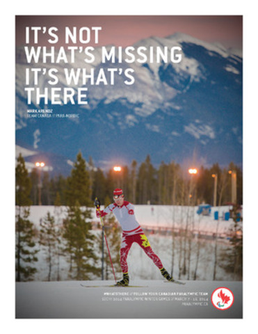Para-Nordic skier and biathlete Mark Arendz (Hartsville, PEI) is featured in the Canadian Paralympic Committee's new Sochi 2014 campaign to build hype around the Games. (CNW Group/Canadian Paralympic Committee (CPC))