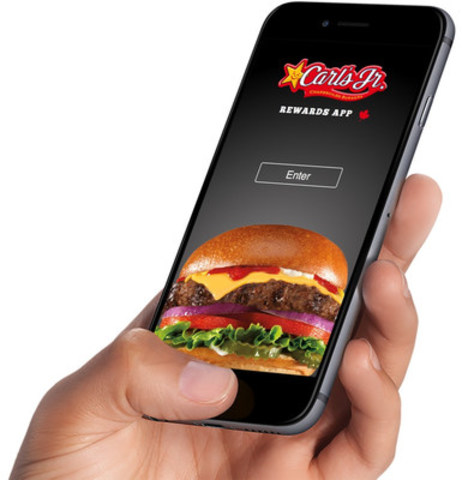 PayWith and Carl's Jr.® have partnered to launch a secure, easy-to-use Rewards App.  Carl's Jr. becomes the first burger chain in Canada to introduce an app that seamlessly combines mobile payment, gifting and rewards for its customers. (CNW Group/PayWith Worldwide Inc.)
