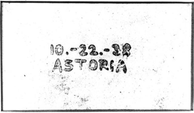 La première image xérographique, créée il y a 75 ans ce mois-ci. (Groupe CNW/Xerox Canada)