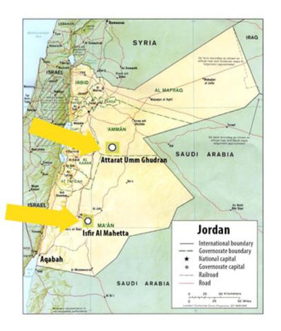Jordan Map (CNW Group/Global Oil Shale Holdings)