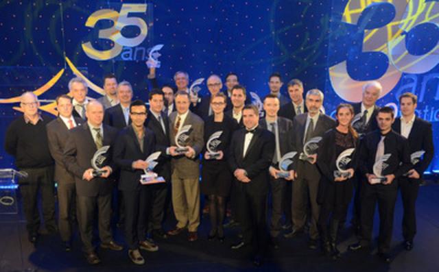 Les lauréats des Prix Innovation 2013 de l'ADRIQ (Groupe CNW/ADRIQ)