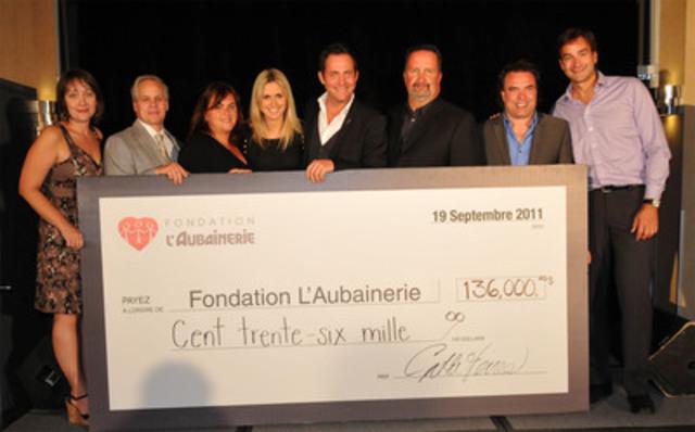 La Fondation L'Aubainerie, lancée le 19 septembre dernier, appuiera financièrement différents organismes à but non lucratif qui agissent auprès des gens dans le besoin. (Groupe CNW/L'Aubainerie)