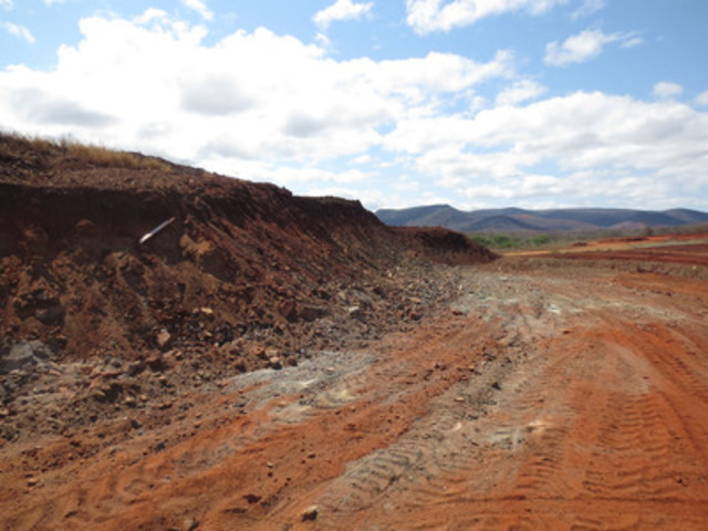 "Photo 1: Pre-stripping Work at the Gulcari ""A"" - 300 Level Bench (CNW Group/Largo Resources Ltd.)"