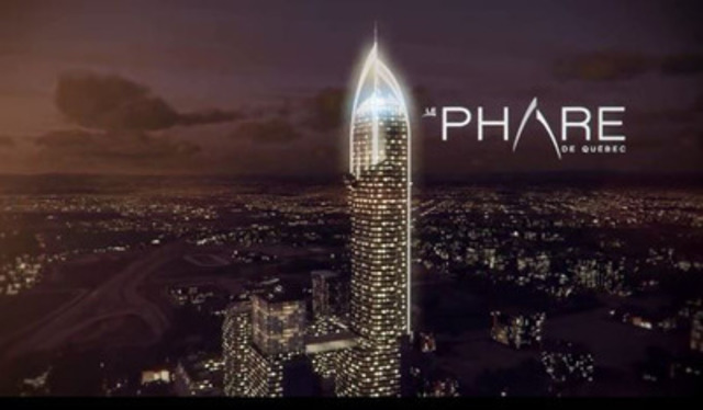 Video: Le Phare de Québec. The $600 million investment project will offer over two million square feet of mixed-use space and notably featuring a 65-storey tower. The complex will be complemented by three sister towers of between 25 and 30 storeys each.