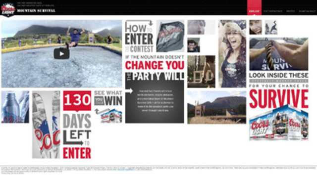 For more information about Coors Light Mountain Survival and the contest visit www.coorslight.ca/survival (CNW Group/Molson Coors Canada)