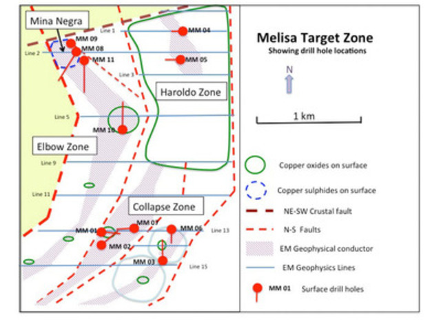 Drill site map (CNW Group/Polar Star Mining Corporation)