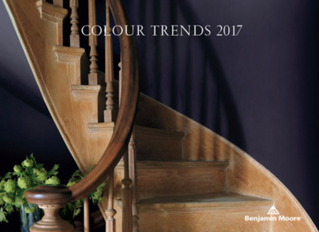Benjamin Moore reveals its highly anticipated Colour of the Year 2017 – Shadow 2117-30, a rich, royal amethyst. (CNW Group/Benjamin Moore)
