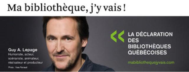 Guy A. Lepage (Groupe CNW/Table permanente de concertation des bibliothèques québécoises)
