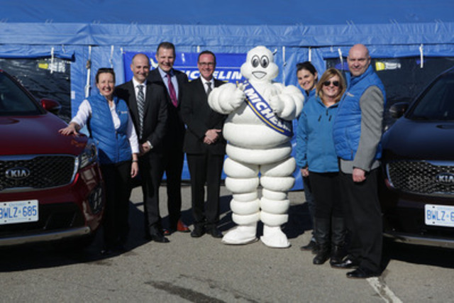 Michelin Amérique du Nord (Canada) inc signe un accord avec Kia Canada inc.  (Groupe CNW/Michelin Canada)