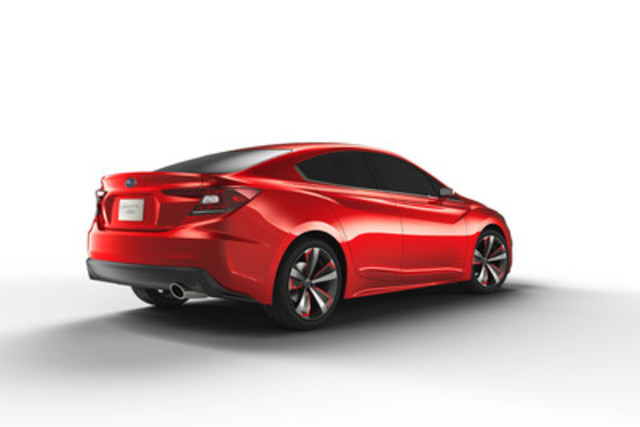 Dévoilement mondial de la berline concept Subaru Impreza au Salon de l'auto 2015 de Los Angeles. (Groupe CNW/Subaru Canada Inc.)