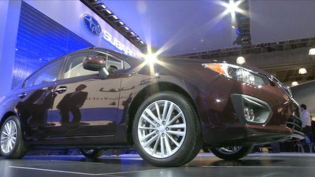 Video: Salon international de l'auto de New York : Subaru présente la toute nouvelle Impreza 2012, 30 % plus économe en carburant