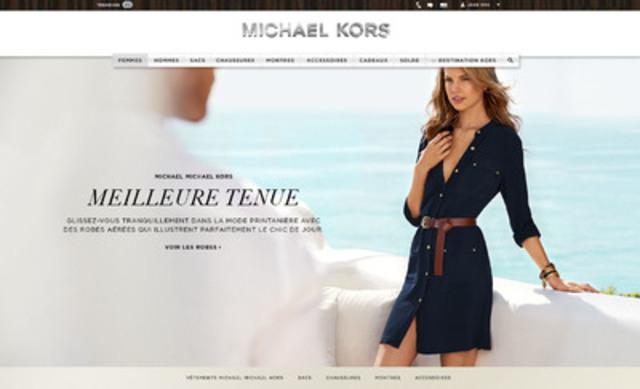 Page d'accueil du site Michaelkors.ca (Groupe CNW/Michael Kors Canada)