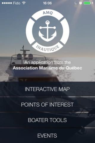 Inautique Home screen (CNW Group/Quebec Marine Association (QMA))