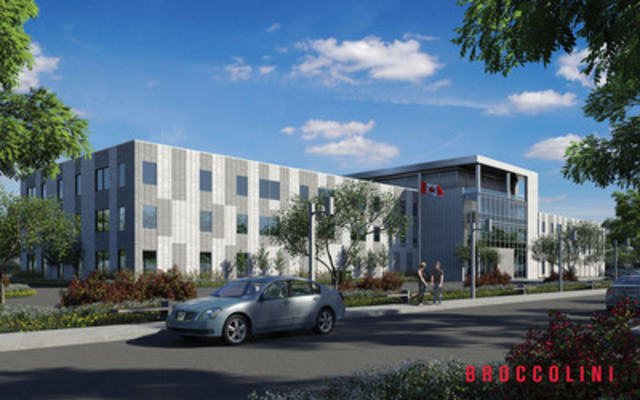 Broccolini - Large-scale office building in Miramichi, New Brunswick for the Department of Public Works and Government Services Canada (PWGSC). *Artist Rendering (CNW Group/Broccolini)