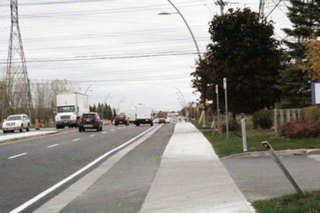 Le boulevard Le Corbusier Nord (Groupe CNW/Société de transport de Laval)