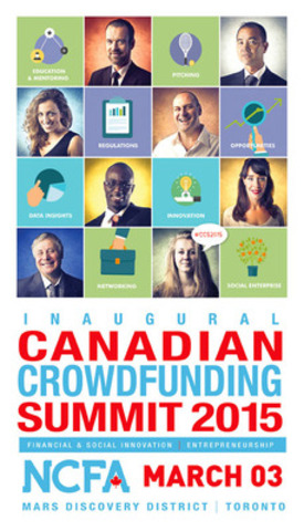 NCFA 2015 Canadian Crowdfunding Summit banner (CNW Group/National Crowdfunding Association of Canada (NCFA Canada))