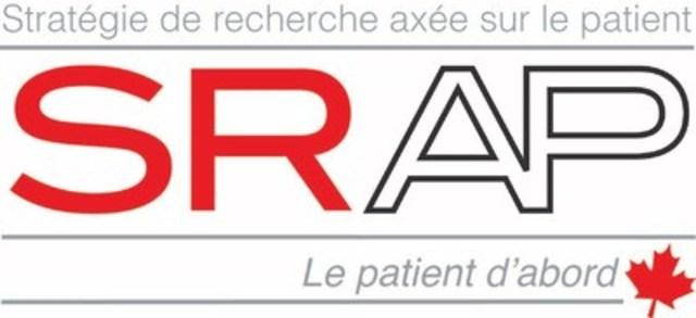Logo : Stratégie de recherche axée sur le patient - SRAP (Groupe CNW/Instituts de recherche en santé du Canada)