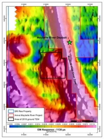 Figure 1. 2016 TDEM Survey location. (CNW Group/Brazil Resources Inc.)